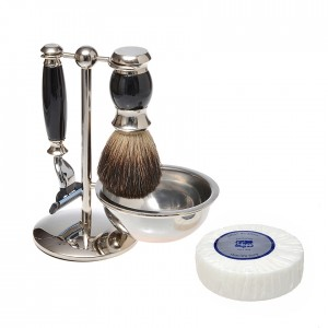 Black 4pc Set 3 Blade with Shave Refill Puck 300x300 Home