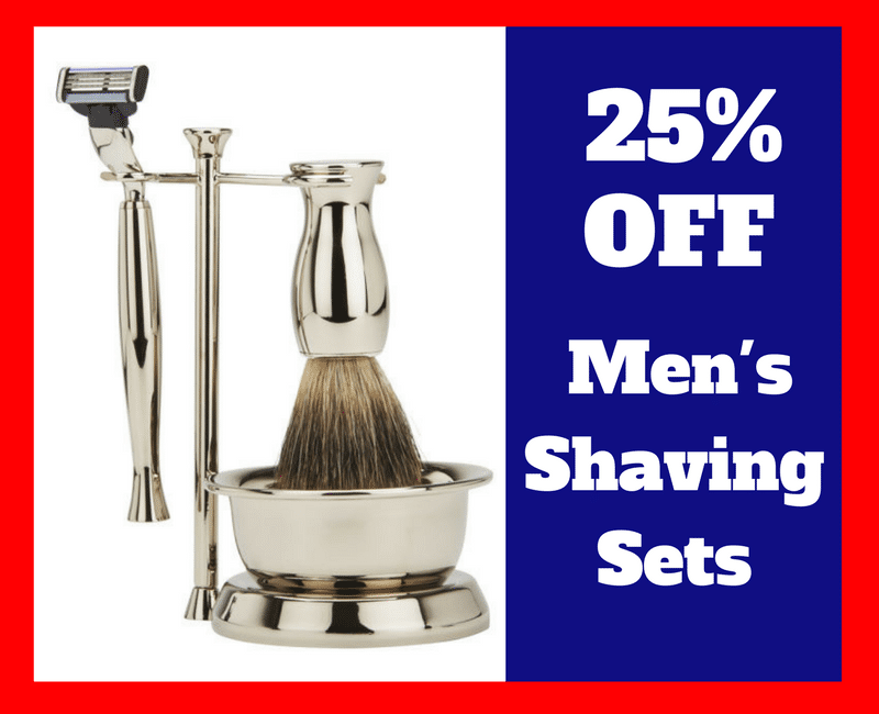Get 25% Off Shaving Sets at Menkare Grooming